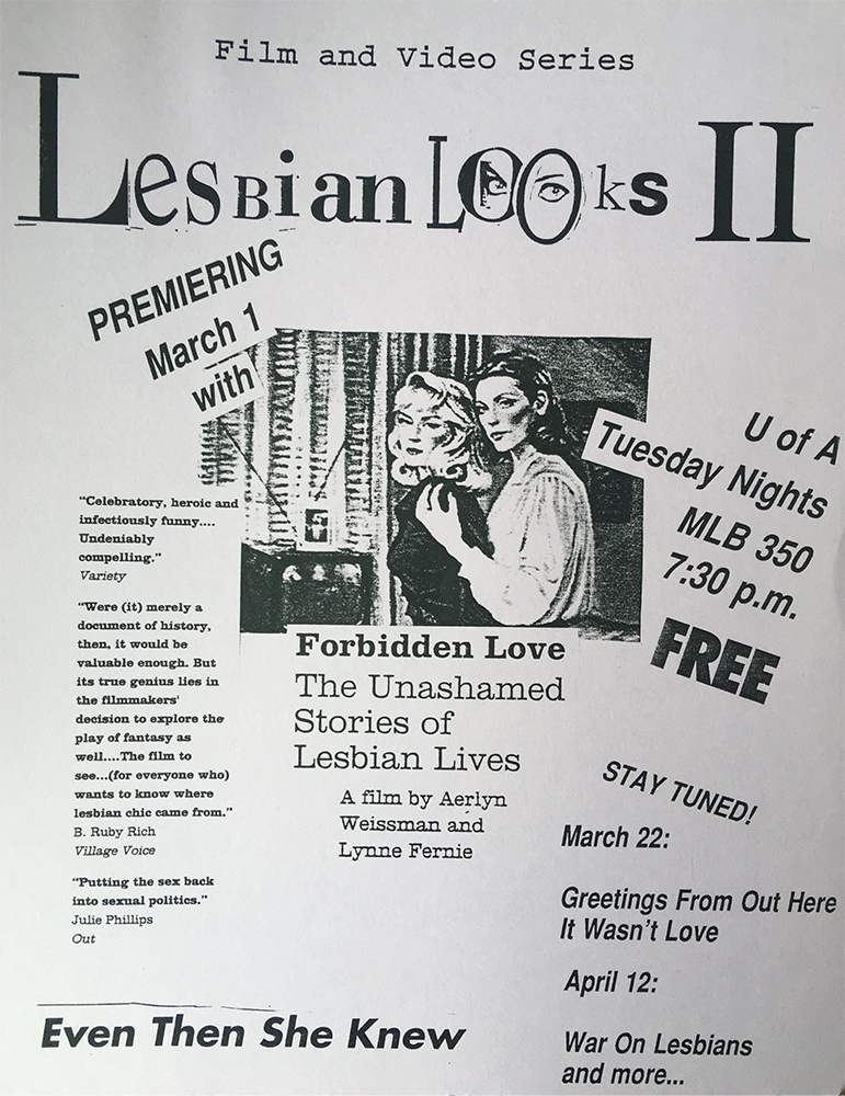 Lesbain Looks flyer 1994, second