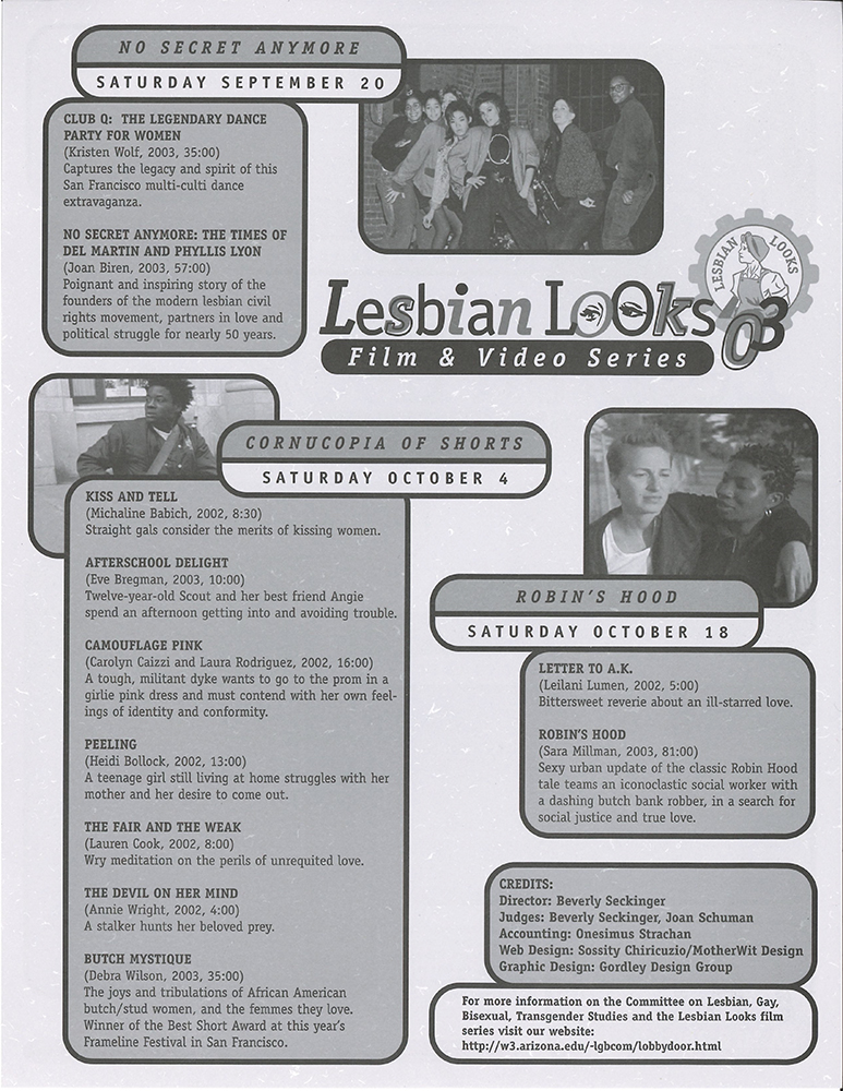 Lesbian Looks flyer 2003 page 2