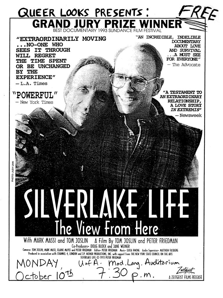 1994 Queer Looks Silverlake Life flyer