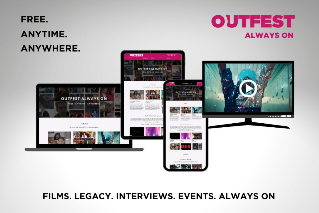 "Ad for Outfest ""Always On"" -  showing multiple devices"