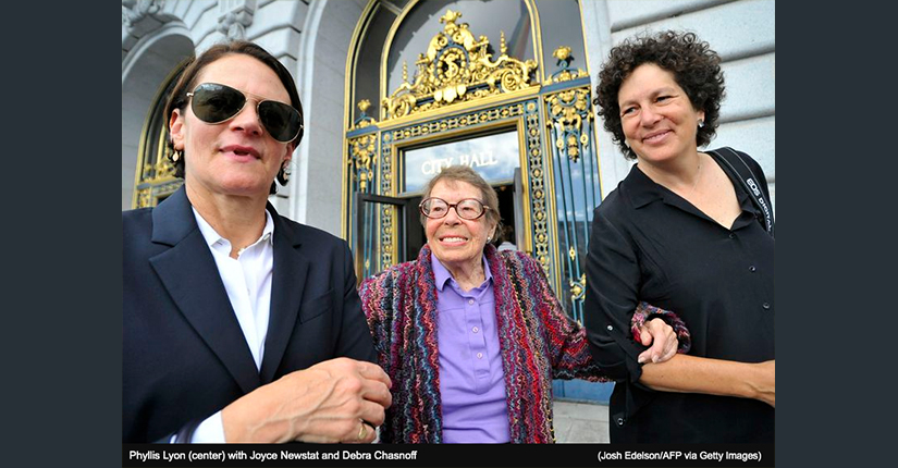 Phyllis Lyon with Joyce Newstat and Debra Chasnoff